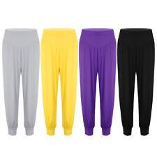 Women High Waist Elastic Long Pants Casual Loose Yoga Sports Dance Harem Pants
