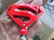 red superman, kryptonite,motorcycle, ratrod,hotrod, mascot,car hood ornament