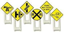 NIB O Lionel 6-37120 Railroad Signs 6 Piece Set