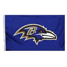 BALTIMORE RAVENS OFFICIAL LOGO 3X5 BANNER FLAG NFL