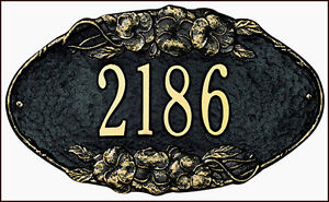 Whitehall Pansy Oval Personalized Address Plaque Sign Marker - 17 Color Choices