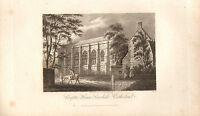 1816 Georgianisch Datierter Aufdruck ~ Chapter House Carlisle Kathedrale