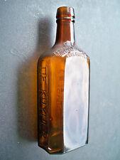 """De Kuyper's 4/5 pint Amber Antique Glass Bottle 8"""" tall"""