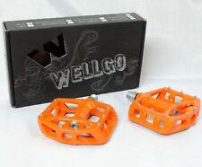 WELLGO MG-1 MG1 Magnesium Pedals 9/16 1 pair ORANGE NEW