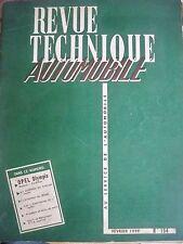 OPEL Olympia (54-59) - Revue Technique Automobile