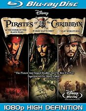 Pirates of the Caribbean Trilogy (Blu-ray, 2008, 6-Disc Set) Parts 1 & 2 SEALED