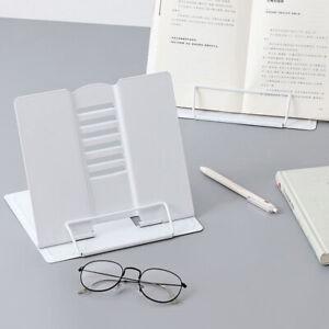 Portable Metal Adjustable Reading Book Holder Support Document Shelf  Book-stand