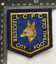 VINTAGE LEICESTER CITY FOOTBALL CLUB FC LCFC EMBROIDERED PATCH WOVEN CLOTH BADGE