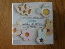 Set of 4: Easter/Spring Linzer Cookie Cutter Kit-Bunny,Egg,Daisy,Butterfly - New