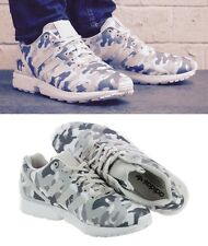 new ADIDAS ZX FLUX CAMO men's 10 44 running shoes sneakers decon trainers 8000