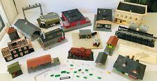 HO Scale Model Train Buildings Platforms Station Factories Stores Signs Trestle