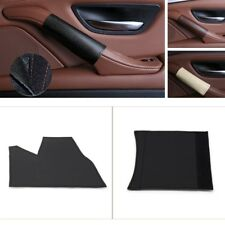 4PCS Black Leather Inner Door Handle Panel Pull Cover Trim For BMW 5 Series F10