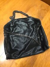 Stella McCartney Large 100% Auth.  Black Falabella Shaggy Dear Tote barely used