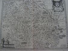 Frankreich Borbonium Ducatus G.Blaeu 1640 originale Kupferstichkarte