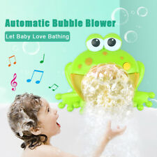 Bubble Machine Big Frog Automatic Bubble Maker Blower Music Bath Toy For Baby