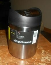 simplehuman 0.4 gal. counter top trash can stainless steel new