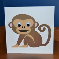 Personalised MONKEY G👀gly Eye Birthday Card Any Name Age Message Girl Boy