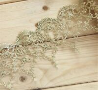 Gold Costume Craft Lace Edging Bridal Evening Dress Embroidery Guipure Ribbon