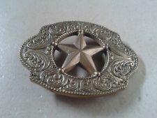 American Sheriff Star Design (Cowboy Blue Brass Rock & Roll Elvis) Belt Buckle