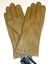 Ladies Thinsulate Genuine Leather Gloves,Dark Camel, Small
