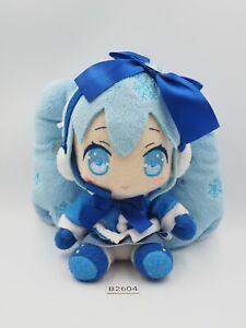 "Hatsune Miku B2604 Vocaloid Yuki Snow Taito 2012 Plush 6"" Toy Doll Japan"