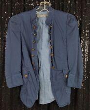Zara Basic Navy Blue Military Style Button Lined Blazer Jacket Open Front Sz XS