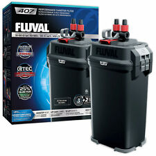 Fluval 407 External Power Filter Includes Media Aquarium Fish Tank Replaces 406