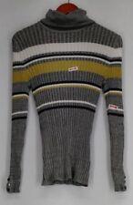 Gestreifte Damen-Pullover mit Rollkragen