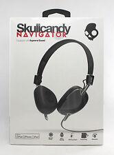 Skullcandy Navigator OnEar Headphones with Mic Black S5AVDM161 FREE SHIPPING