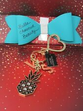 Victoria's Secret Black Studded Pineapple Gold Tone Purse Bag Charm FOB Keychain