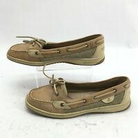 Sperry Top Sider Angelfish Boat Shoes Womens 9.5M Casual Leather Brown 9102047
