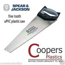 "Fine Tooth uPVC Plastic Hand Saw from Spear & Jackson - B98UPVC Predator 20"""
