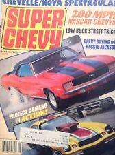 Super Chevy Magazine Project Camaro & Nascar Chevys May 1984  013118nonrh