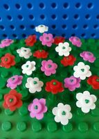 LEGO Bulk Flowers x8 Creator City Town Train Trees Minifigs Utensil Friends NEW