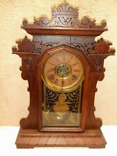 An Excellent Original early 8 day Ingraham parlor shelf clock runs & strikes