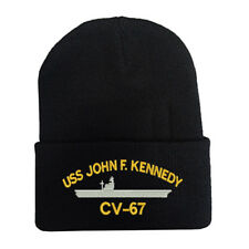 CUFF FOLD UP LONG BEANIE WINTER HATS USS JOHN F. KENNEDY CV-67 BATTLESHIP