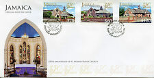 Jamaica 2014 FDC St Andrew Parish Church 350 Years 3v Set Cover Churches
