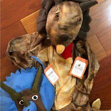 NWT Pottery Barn Kids ~TRICERATOPS~ HALLOWEEN 3D Costume (3T) & BAG ~DINOSAUR~