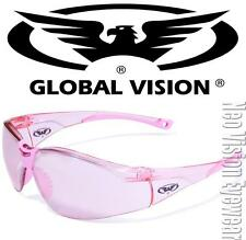 Global Vision Cruisin Pink Mirror Womens Safety Glasses Sun Motorcycle Z87+