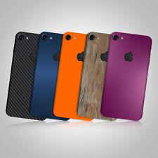 Etiqueta Engomada De La Piel Con Textura Para APPLE iPHONE 8 Carbono-Madera-Mate De Vidrio Templado