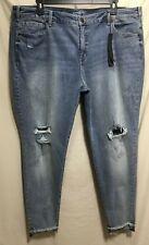 79aae68c973 Lane Bryant Plus Size 18 Stretch Denim SKINNY Embroidered Ankle Jeans 913j