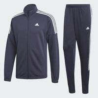 Adidas MTS Team Sports Track Suit Jacket Pants Navy Blue White 3 Stripes DV2446