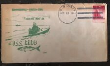 1944 USA NAVY Post Office USS Chub SUBMARINE Commissioned Cover FDC