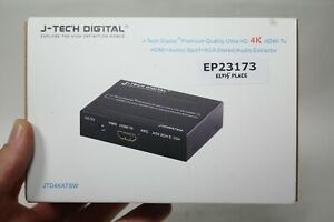 J-Tech Digital 4k HDMI audio extractor Spdif + FCA Stereo JTD4KATSW EP23173