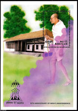 BHUTAN GANDHI INDEPEX 97 SOUVENIR SHEET MNH
