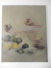 Michèle SALMON Nature morte au pamplemousse huile sur toile 92x73cm
