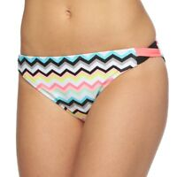 SO Juniors Size XS S M L XL Pink White Black ZigZag Hipster Bikini Bottom Swim