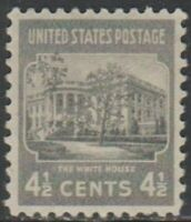 Scott# 809 - 1938 Presidential Series - 4 1/2 cents White House Single
