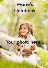 Your Photo Cute Printed Personalised Notebook A5 Custom Picture Name!