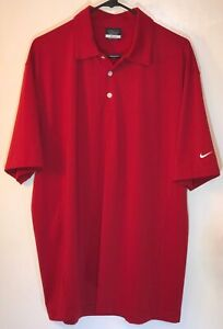 NIKE Golf Dri-Fit Polo Shirt Red Mens Size L 56323. Excellent Condition.